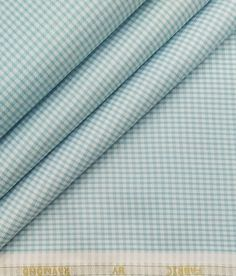 Shirting Fabric, Suit Fabric, Self Design, Blue Check, Fabric Tags, Fabric Online, White Fabrics, Poplin, Party Wear