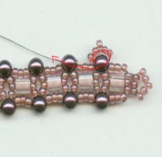 * Bracelet pattern (with cubes or other beads) http://www.rubysbeadwork.com/DV2.html
