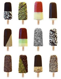 Ice cream │Helados - #Icecream Ice Cream Pops, Ice Cream Treats, Frozen Desserts, Frozen Treats, New York Desserts, Frozen Yogurt Bites, Ice Cream Business, Shop Signage, Ice Bars