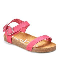 Love this Fuchsia Two-Strap Sandal on #zulily! #zulilyfinds