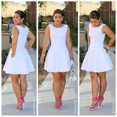 Mimi g style dresses Look Fashion, Diy Fashion, Fashion Dresses, Womens Fashion, Fashion Sewing, Mädchen In Uniform, Diy Couture, White Outfits, Diy Clothes