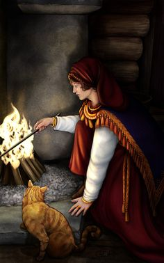 Gabija (also Gabieta or Gabeta) is a Lithuanian hearth goddess, specifically the spirit of fire. She acts as the protector of the house and may appear as a rooster, a red cat, or a stork. Unlike many other hearth goddesses, Gabija was seen as a stern goddess who might punish households that neglected the care of their fires.