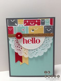 Stampin' Up!, PCCCS047, Four You, I Am Me DSP, Essentials Paper-Piercing Pack, Tea Lace Paper Doily, 2 1/2 Circle Punch, Vintage Brights Designer Button