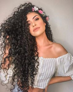Hairstyles black girls wedding 21 ideas Little Girl Hairstyles Black Black Girls Hairstyles Ideas Wedding Curls For Long Hair, Curly Hair With Bangs, Black Curly Hair, Long Curly Hair, Hairstyles With Bangs, Party Hairstyles, Girl Hairstyles, Wedding Hairstyles, Relaxed Hairstyles