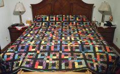 Handmade batik king size quilt