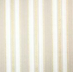 8523-01 White Gold Striped - Quadruple roll Wallpaper