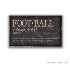 Football definition handmade wooden sign with by DesignHouseDecor