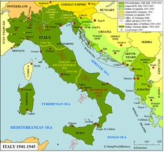 119 best 2421 go maps italy images on pinterest map of this map shows italy during wwii in cooperation with germany italy occupied part of the balkan and greece gumiabroncs Image collections