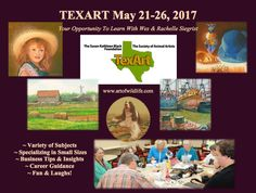 Wes and Rachelle Siegrist will be teaching at TexArt 2017.