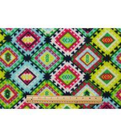 Anti Pill Fleece Fabric-Boho Sw Aztec