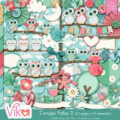 Kit Corujas Fofas 2 by Vika Matos  store: http://boutiquedoscrap.com/index.php?main_page=product_info&cPath=1_2&products_id=1148