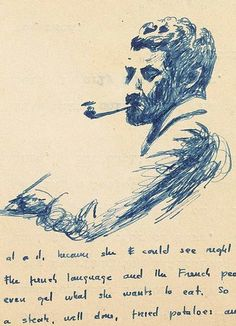 vintageanchor:A recently discovered trove of William Faulkner writings includes illustrated letters.