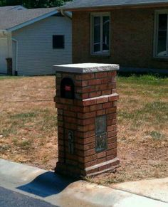 Brick mailbox w/ glass blocks.....