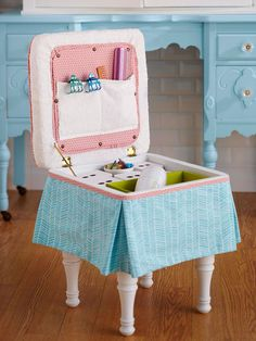 Good idea for makeup table stool
