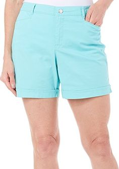 Gloria Vanderbilt Womens Gabrielle Shorts 12 Aruba aqua >>> Learn more by visiting the image link.