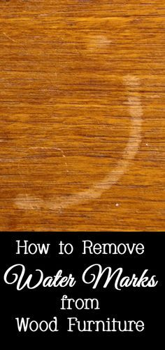 All is not lost if you forgot to use a drink coaster and got a water mark or water ring on your wood furniture (or even worse, someone else's wood furniture).   Here are several options for removing the water mark and making your furniture as good as new.  Make sure to test all methods in an inconspicuous area on your wood furniture to ensure it does not damage your furniture.