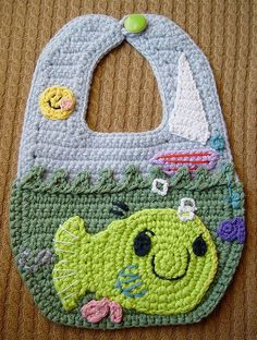 Crochet Arty The Smarty Baby Bib    Inspired by my little girl, a bib based on the classic children's book, Arty The Smarty :)