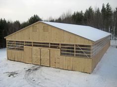 70'x140' Riding Arena!  http://www.woodtex.com/barns-and-run-in-sheds.asp