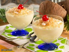 Homemade Coconut Pudding - This tropical dessert recipe is just what you need to banish away the cold weather... at least for a little while!