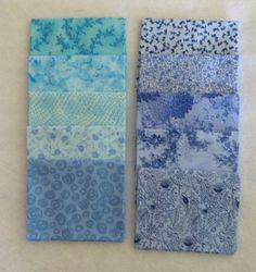 Cotton Fabric, Quilt, Home Decor Fabric, Blue Fat Quarter Bundle of 10 Fat Quarters, 18 x 22 each, Fast Shipping https://www.etsy.com/shop/suesfabricnsupplies