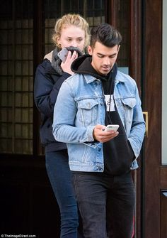New couple: Joe Jonas and Sophie Turner were spotted leaving a New York hotel together on Wednesday