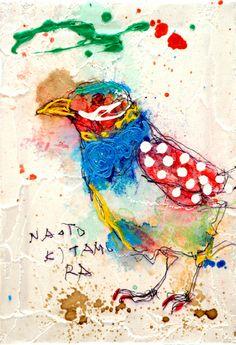 Naoto Kimura   10574 すべての世界が変わり始めたよ 30000枚描いたら世界へ -北村直登- Nature Sketch, Bright Paintings, Farm Art, Bird Illustration, Japan Art, Art Journal Inspiration, Gravure, Art Forms, Art Images