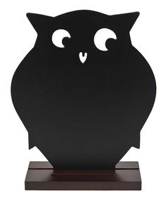 Take a look at this Black Owl Blackboard Stand by GANZ on #zulily today! $10 !!