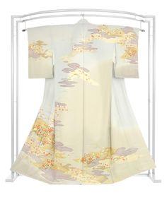 正絹手加工友禅訪問着 大塚ブランド縮緬地 「四季彩雲取文」|京都きもの市場
