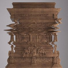 Good Vibrations  This is not a distorted digital photo - it's a cabinet that's been intricately carved to look like one. Created by Italian designer Ferruccio Laviani's for furniture brand Fratelli Boffi, the Good Vibrations storage unit was carved from oak by a CNC machine.