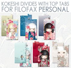 Personalize your planner with these cute dividers! This product includes 2 PDF files: 1 pdf _ with 6 dividers for A4 sheets; 1 pdf _ with 6 dividers for LETTER sheets;  For filofax personal, websters pages color crush and kikkik medium Page sizes: 9,5cm x 17.1cm _ _ _ _ _ _ _ _ _ _ _ _ _ _ _ _ other sizes are also available.  The pages are already set on A4 or LETTER sheet, to make the printing easier. To print them correctly: _Choose File > Print. _From the Page Scaling pop-up menu…