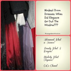 Modesty and Prom Dresses/formal/semi-formal----when did elegance go out the window?