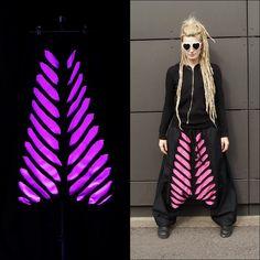 UV active harempants  #harempants #blacklight #uvactive #handmade