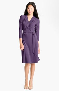 Alex & Ava Elbow Sleeve True Wrap Jersey Dress available at Nordstrom