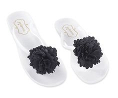 Flower Jelly Sandal - Black *** Special product just for you. Jelly Shoes, Jelly Sandals, Flip Flop Sandals, Womens Flip Flops, Black Sandals, Fashion Brands, Flowers, Awesome, Jewelry