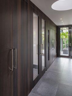 Wooden FritsJurgens PivotDoors. By Derk - Exterior & Interior Design.  #invisiblehinges #pivotdoors #interiordoor #woodendoor