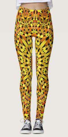 Discover Fall leggings at Zazzle! Fall Leggings, Printed Leggings, Apparel Clothing, Yoga Fashion, Boho Outfits, Autumn Leaves, Bohemian Style, Mandala, Womens Fashion