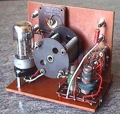 Batterie-Empfänger mit der Röhre 3B7