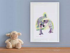 Watercolor Print, Watercolor Paintings, Creatures, Teddy Bear, Canvas Prints, Colorful, Note, The Originals, Digital