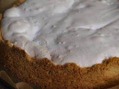 Rabarber frambozen merengue taart. den besten. Een spannende taart!