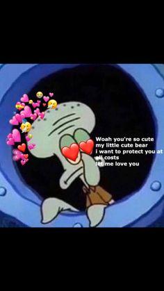 Sherman when he first laid eyes on Tony Dankest Memes, Funny Memes, Heart Meme, Current Mood Meme, Cute Love Memes, Spongebob Memes, Fact Quotes, Wholesome Memes, My Mood