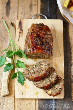 Pain de viande à l'italienne, le polpettone. Une recette facile et savoureuse.