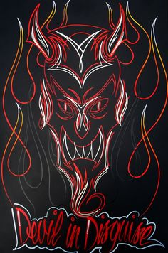 easy pinstriping designs | Pinstripe Flames I like the multicolored flames