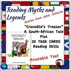 This is a myth from South Africa, another culture. The cultural tale and Task Cards with close questions, ask students to make connections and think as they read.These tasks require students to make connections (Text to Self; Text to Text; Text to World)T