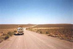 The wide streets and flat landscapes of the Karoo