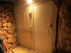 a bomb shelter in the basement of a house, near Jerusalem