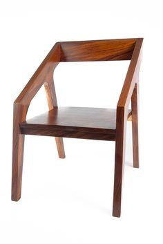 Parota Wood Modern Chair  - #ModernFurniture - forjaespanolausa.com