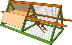 Poulailler triangulaire ©Howtospecialist.com