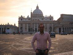 Walter y el atardecer en el Vaticano