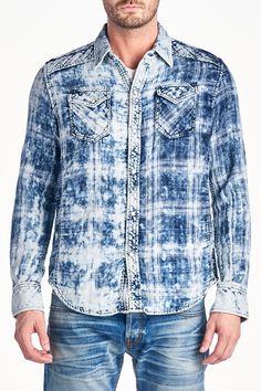 32f72234f5d Cult Of Individuality Leno Plaid Shirt Men s Fashion