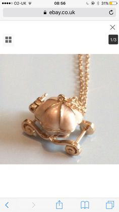 NEW STOCK! Gold Plated Disney Carriage Necklace #newstock #gold #goldplated #disney #carriage #necklace #pendant #jewellery #accessories #ladies #girl #gift #present #christmas #fashion #style https://m.ebay.co.uk/itm/282643894996?_mwBanner=1